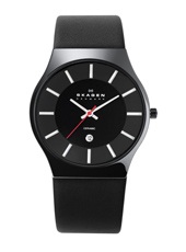 Skagen 233-Ceramic-Black 233XLCLB - 2012 Fall Winter Collection