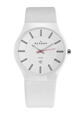 Skagen 233-Ceramic-White 233XLCLW - 2012 Fall Winter Collection