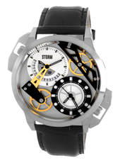 Storm London Dualon-Silver-Leather 47135-S-BK -
