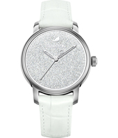 Crystaline Hours 38mm Swiss watch ladies with loose crystals in dial