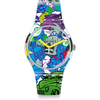 swatch suow133 watch wall paint