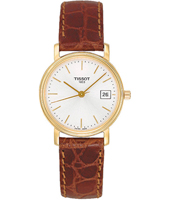 Desire 27.15mm Gold & Brown Ladies Watch with Date