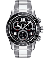 V8  42.50mm Bold Steel & black Chronograph with Date