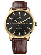 George  44mm Brown, Gold & Black Gents Watch with Date