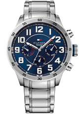 Trent  46mm Steel & Blue Multifunction Gents Watch