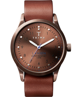 Lansen Bronze 38mm Bronze Fixed Lug watch, Leather Strap