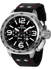 TW Steel Canteen-Chrono-Black-Dial-Red-Accents TW11R - 2012 Spring Summer Collection