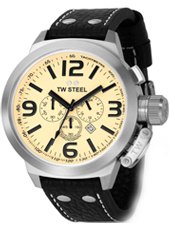 TW Steel Canteen-Chrono-Creme-Dial TW3 - 2008 Fall Winter Collection