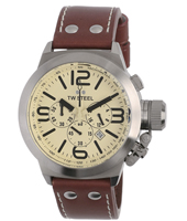 TW Steel Canteen-Chrono-Creme-Dial TW5R - 2008 Fall Winter Collection