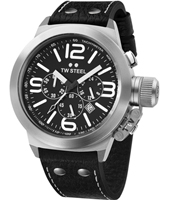 TW Steel Canteen-Chrono-Black-Dial-45mm TW6R - 2013 Spring Summer Collection