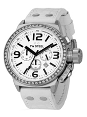 TW Steel Canteen-Chrono-White-Dial TW10 - 2008 Fall Winter Collection