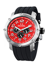 TW Steel Grandeur-Tech-Chrono-Red-Dial TW124 -