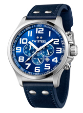 TW Steel Pilot-Chrono-Steel-Blue TW402 - 2013 Spring Summer Collection