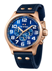 TW Steel Pilot-Chrono-Rose-Gold-Blue TW406 - 2013 Spring Summer Collection