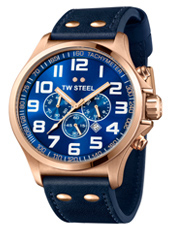 TW Steel Pilot-Chrono-Rose-Gold-Blue TW407 - 2013 Spring Summer Collection