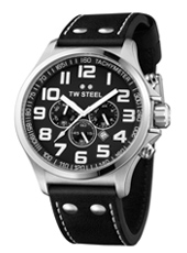 TW Steel Pilot-Chrono-Steel-Black TW412 - 2013 Spring Summer Collection