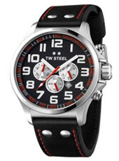 TW Steel Pilot-Chrono-Steel-Black-Red TW414 - 2013 Spring Summer Collection