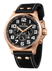 TW Steel Pilot-Chrono-Rose-Gold-Black TW418 - 2013 Spring Summer Collection