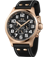 TW Steel Pilot-Chrono-Rose-Gold-Black TW419 - 2013 Spring Summer Collection