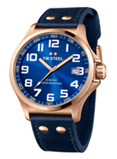 TW Steel Pilot-Rose-Gold-Blue TW404 - 2013 Spring Summer Collection