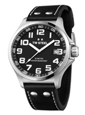 TW Steel Pilot-Steel-Black TW408 - 2013 Spring Summer Collection