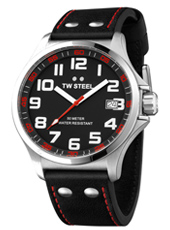TW Steel Pilot-Steel-Black-Red TW410 - 2013 Spring Summer Collection