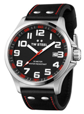 TW Steel Pilot-Steel-Black-Red TW411 - 2013 Spring Summer Collection