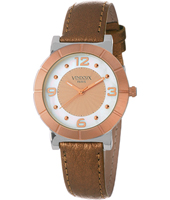 MR11585-12 Dordogne Modern Bicolor Rose Ladies Watch with a Mesh Strap