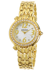 MD16240-02 Nice Gold White & Crystals Ladies Watch