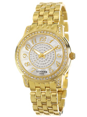 MD24500-02 Versailles Gold Ladies Watch with Crystals and Decorated Dial