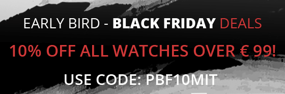 10% off al watches over 99 euro