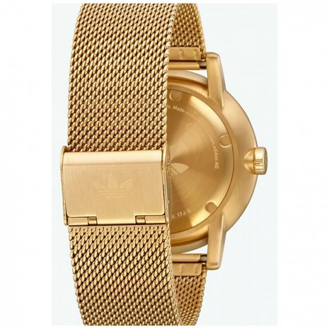 White & Gold Quartz Watch with Mesh Bracelet Fall Winter Collection Adidas