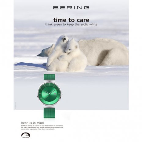 Green Solar Powered Design Watch Spring Summer Collection Bering