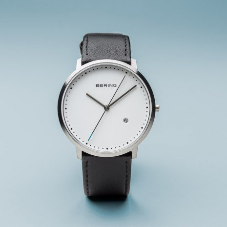 Silver & Black Quartz Watch with Date Spring Summer Collection Bering