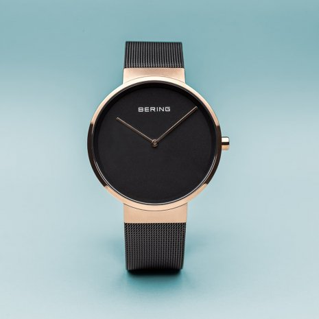 Rose Gold & Black Quartz Watch Spring Summer Collection Bering