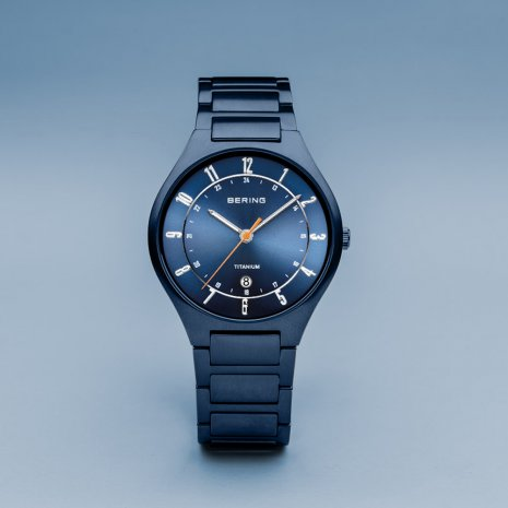 Blue coated titanium gents watch Spring Summer Collection Bering