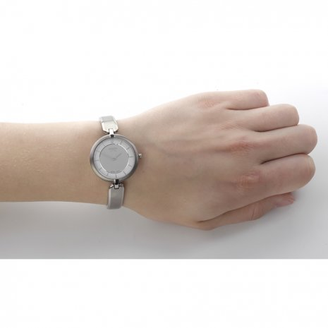 Silver Titanium Lady Watch Fall Winter Collection Boccia