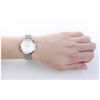 Silver Titanium Ladies Watch with MOP Dial Spring Summer Collection Boccia