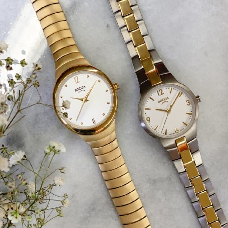 Gold toned titanium ladies watch Spring Summer Collection Boccia
