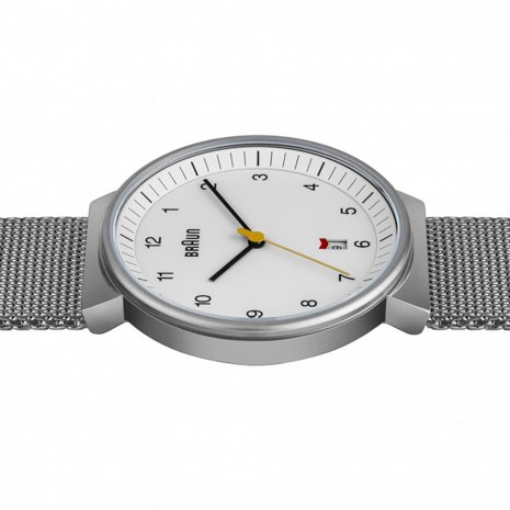 Braun watch silver