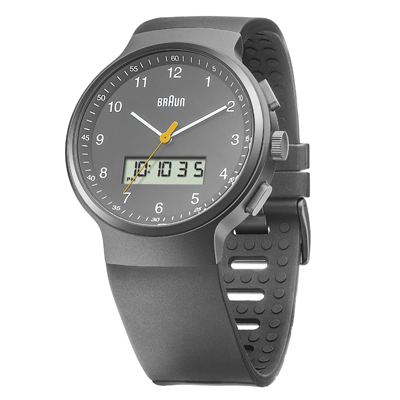 Braun watch grey