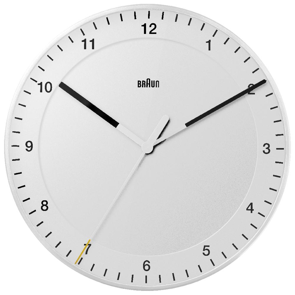 Braun Bnc017whwh Nrc Clocks Clock Wall Clock Quartz