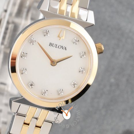 Ladies watch with mother of pearl dial and crystals Fall Winter Collection Bulova