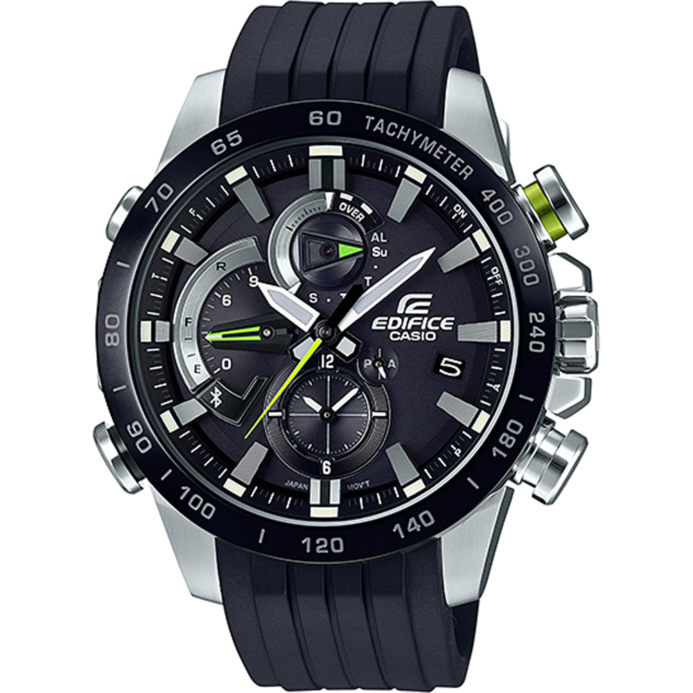 5d3819686f4 Casio Edifice Bluetooth EQB-800BR-1A Bluetooth Connected watch. Black  Chronograph with Smart Phone Link