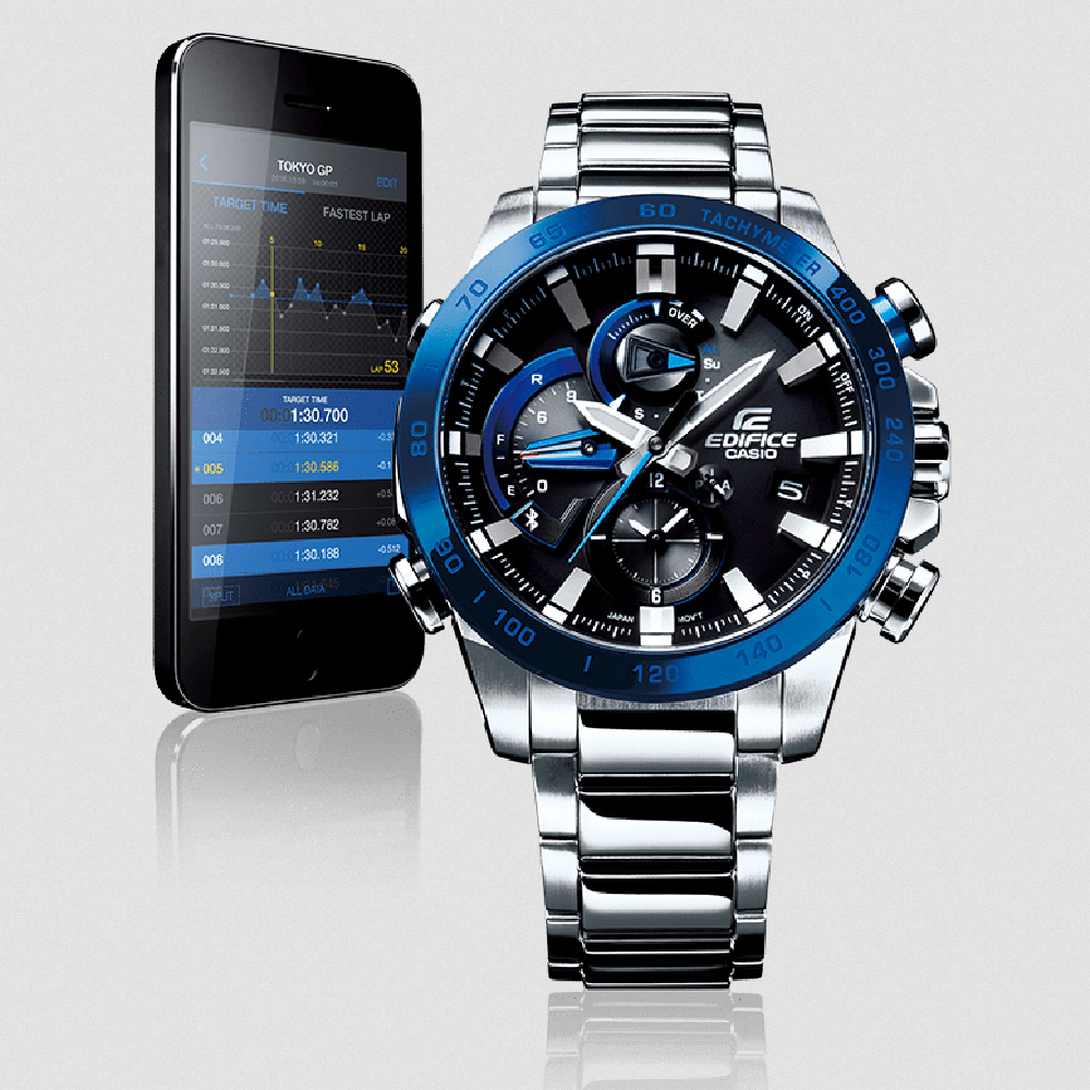 b0cb83457d2 Steel Ghronograph with Smart Phone Link Fall Winter Collection Casio Edifice