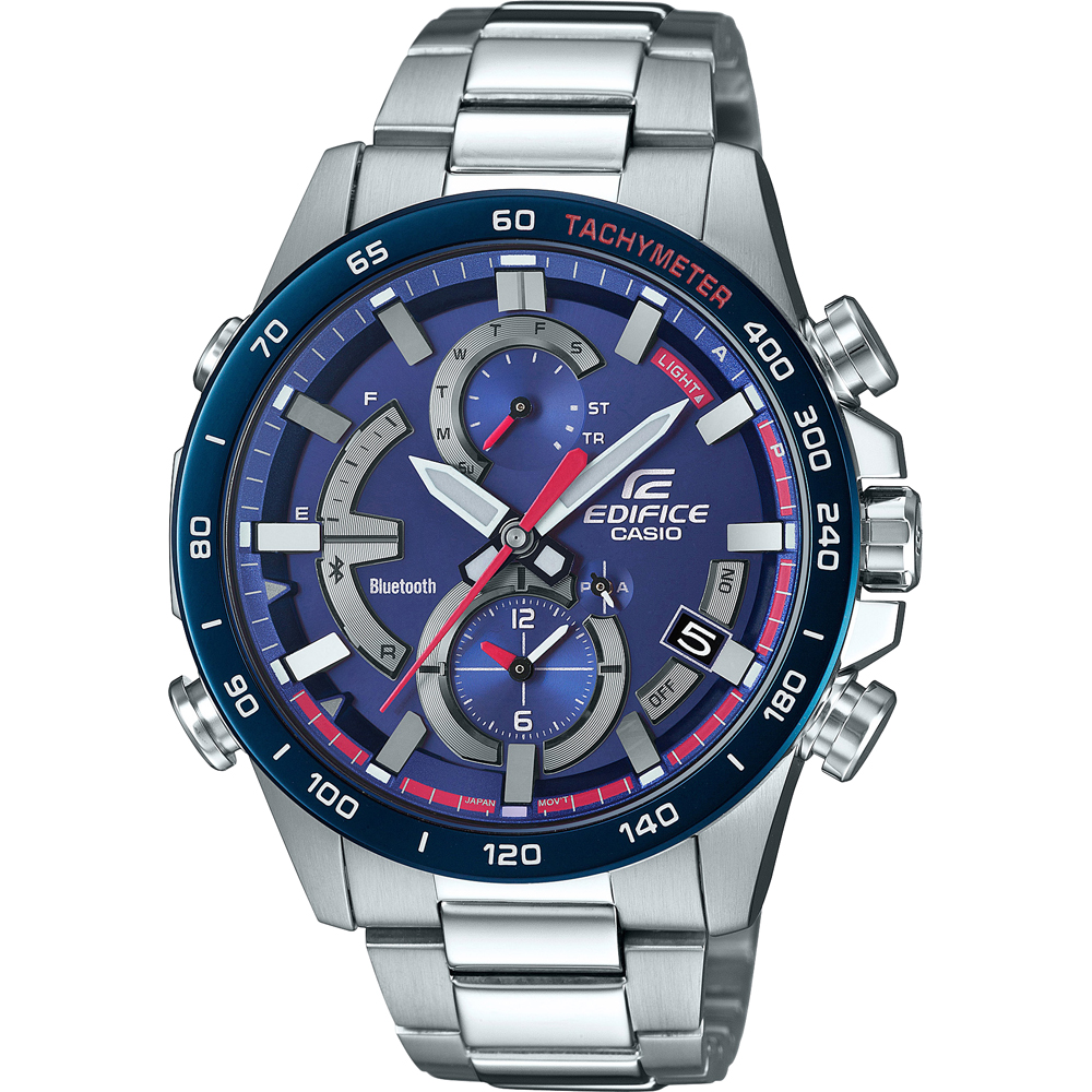 6715f9f82a6 Limited Edition Steel Chronograph with Smart Phone Link Spring Summer  Collection Casio Edifice. Casio Edifice Bluetooth Connected - Toro Rosso  watch