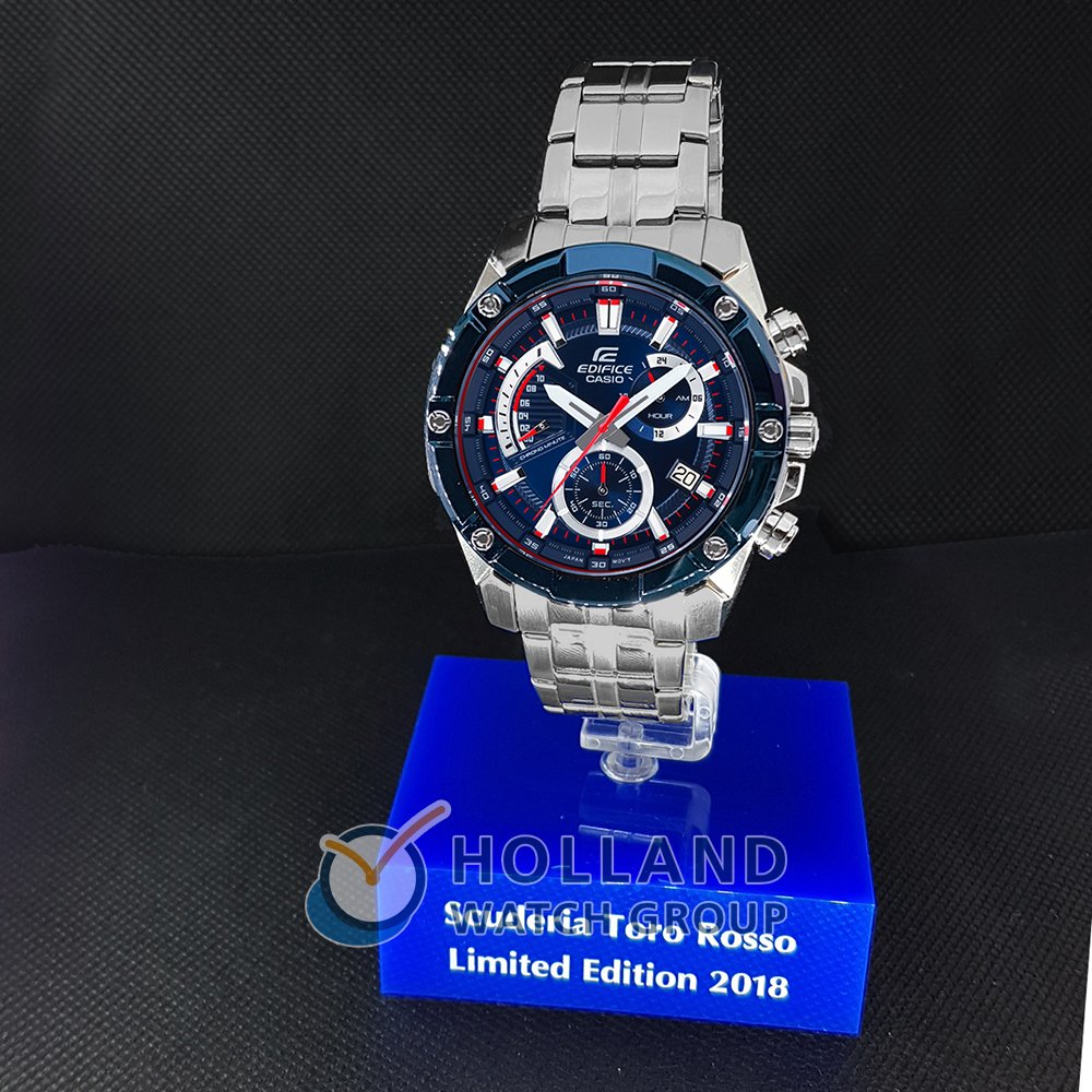 Casio Edifice watch blue. watch silver Quartz Chronograph 47db47d00079