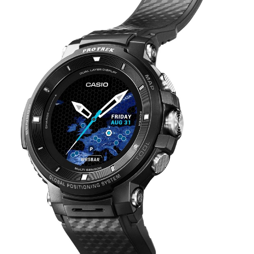 f7a46541db5b Casio watch black · watch black Smart Digital · Smart Outdoor Watch GPS ...