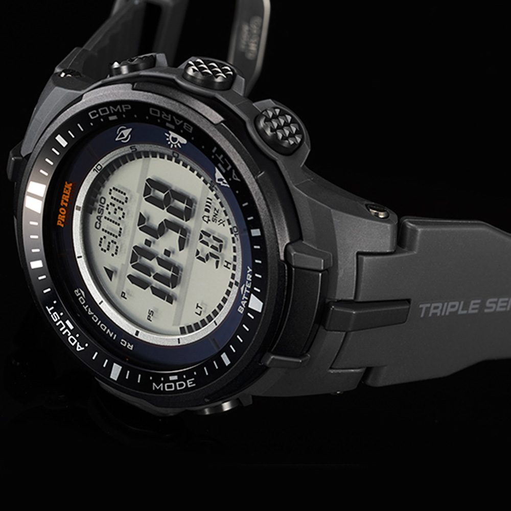 Casio Prw 3000 1er Watch Pro Trek Triple Sensor Prg 600yb 3 Black