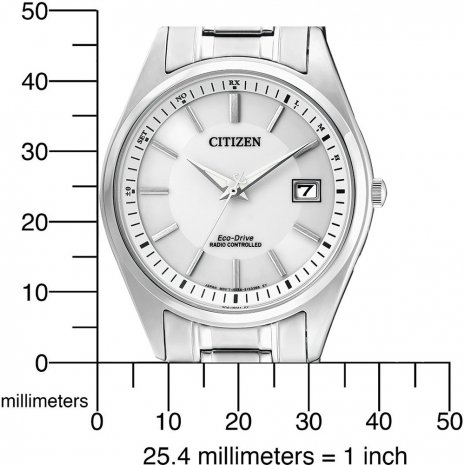 Solar Power Radio Controlled Watch with Date Fall Winter Collection Citizen